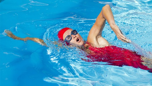 Swimming helps asthmatic patients by regulating the breathing rate