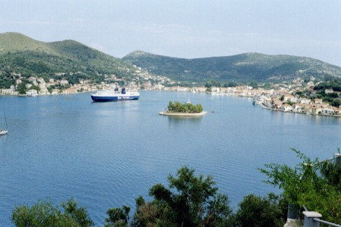 Vathi is the port of Ithaka - the island of Odysseus