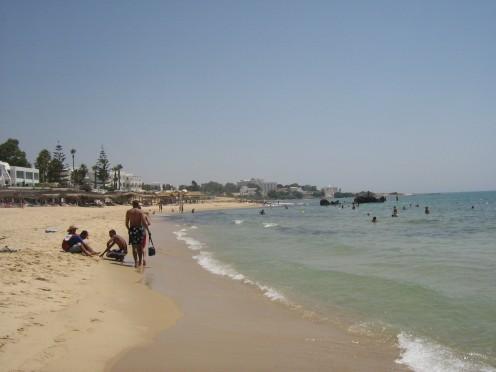 A Tunisian beach near Hammamet