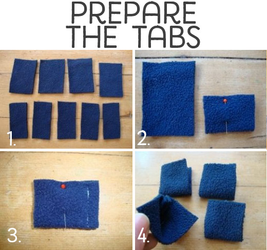 Prepare the tabs.