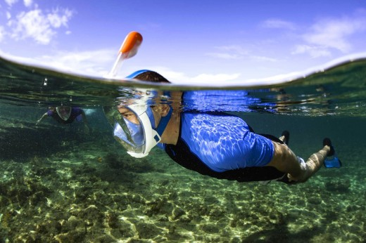This mask may make you look like an alien, but makes snorkeling so much easier.