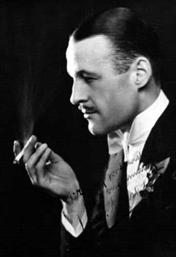 Maskelyne the great illusionist seen in this pre-WWII publicity shot with a cigarette