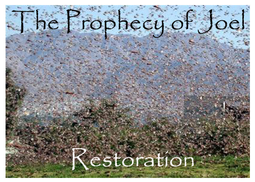 This photo talks about the Prophecy of Joel that deals with restoration.