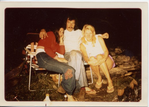 Camping and prospecting. Jericho 1968