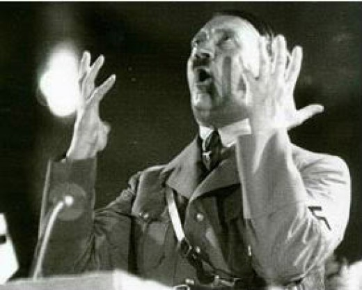 Adolf Hitler at the height of his power.