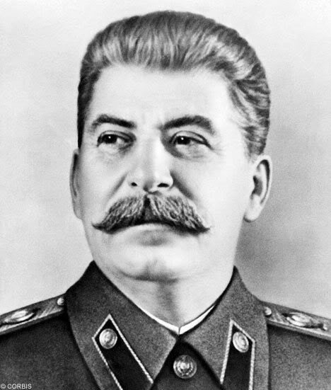 Joseph Stalin who Churchill correctly guessed would be the next threat to the West after Hitler.