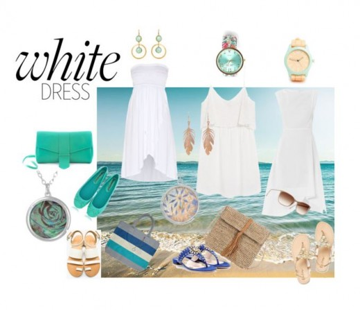 Cool White Dresses for a summer vacation