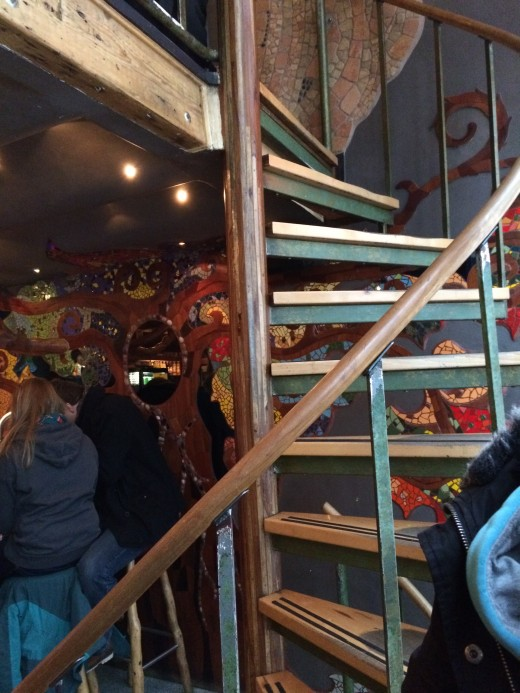 The crazy stairs in Abraxas Amsterdam coffeeshop - be careful!