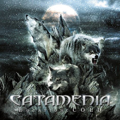 As usual, another one of Catamenia's album covers has wolves on it. These wolves are in a pack. They are howling as the full moon is present.