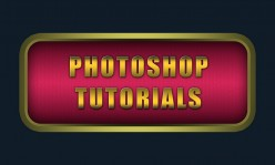 Create Awesome Glossy Button with Burlap Texture in Photoshop