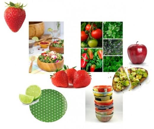 Array Of Fresh Salad Ingredients