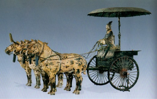 This priceless chariot was completely restored.  Amazingly, the humans are only about two-and-a-half feet tall.  Life size?