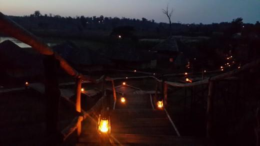 Bison Resort at Night