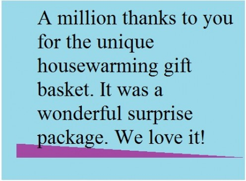 Wording For Thank You Cards For Housewarming Gift And