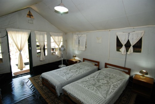 Kabini River Lodge - Deluxe Tent interior