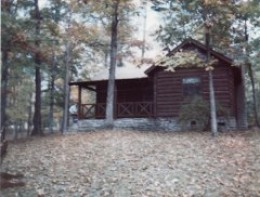 One of the rustic cabins in the park