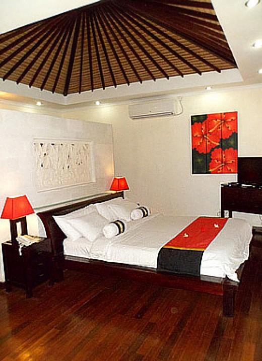 A splendid bedroom suite at Aleesha Villas.
