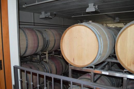Wine barrels at Silverado