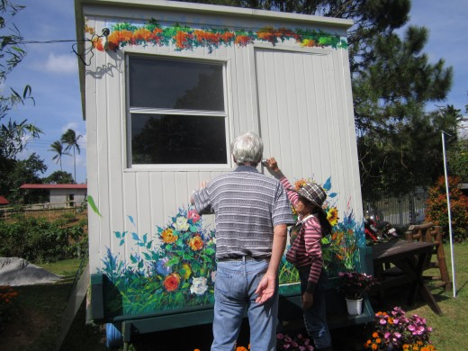 Container van with bunkbeds and bathroom