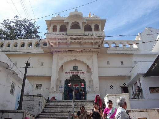 Entrance of Bramha temple complex at Pushkar