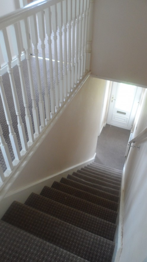 A bright an airy stairwell always looks more spacious
