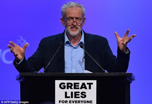 Jeremy Corbyn:  Was once for the UK leaving the EU now it seems he has changed his mind.