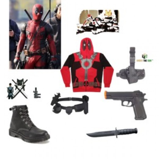 Here are some costume ideas and accessories you can use to put together your own Deadpool costume for Halloween this year.
