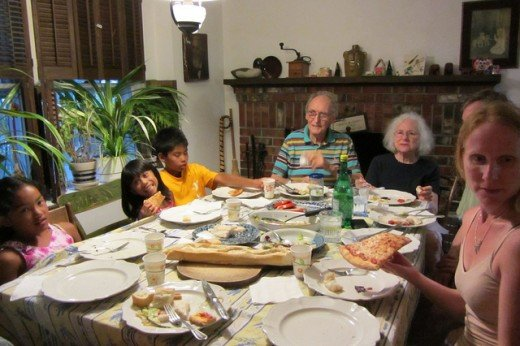 A family dinner can be great quality time spent together.