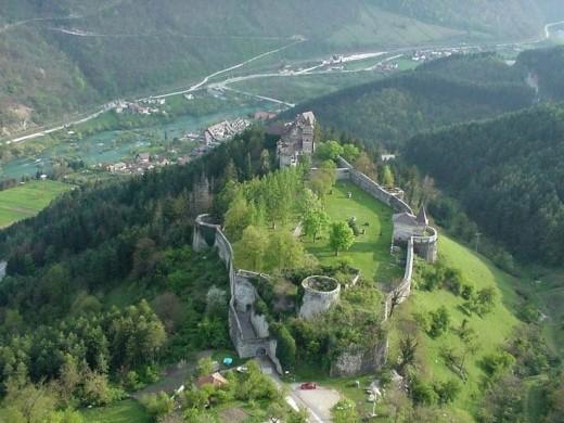 Ostrozac Castle near Bihac