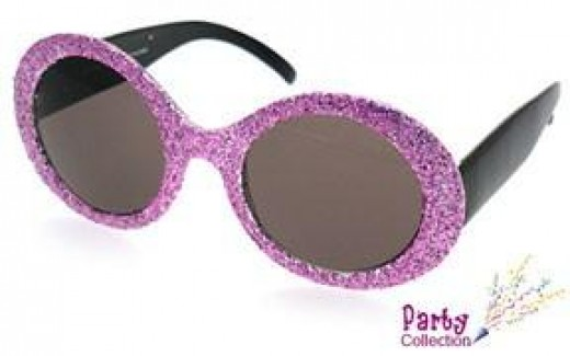 Just Your Basic Sparkly Purple Sunglasses