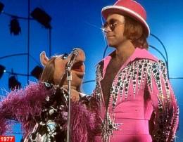Elton John and Miss Piggy