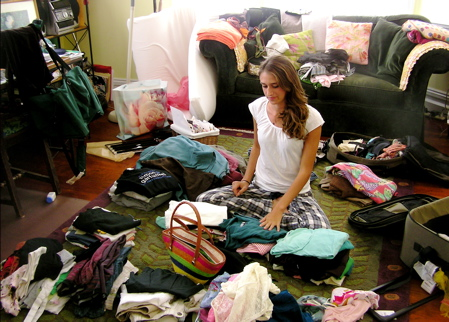 I imagine this to be me packing to go away anywhere
