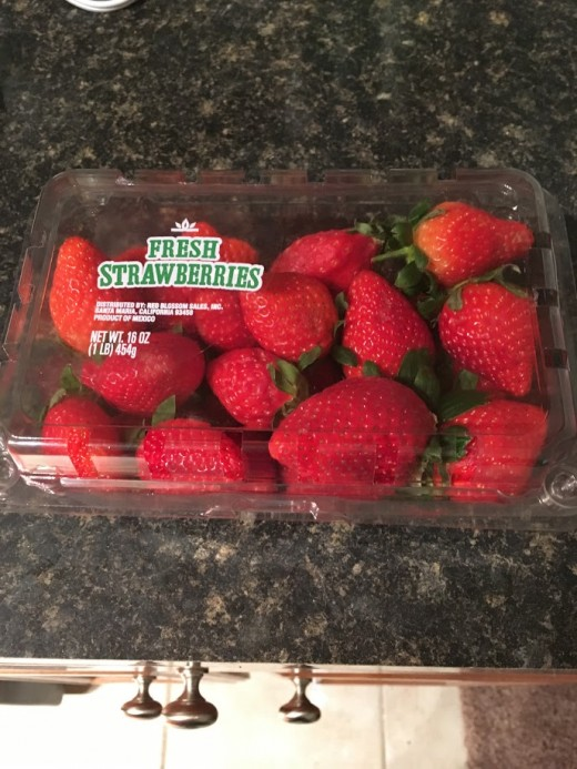 Fresh strawberries (You can get frozen ones too.)