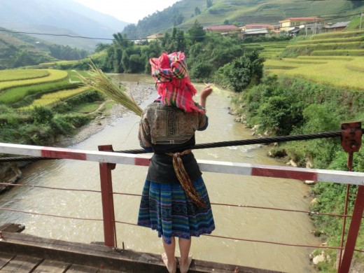 Ethnic girl in Sapa