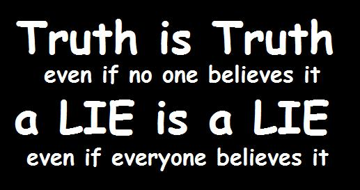 But, what is truth? This doesn't answer the question.
