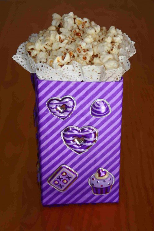Create something special like a popcorn party box  for kid's parties.