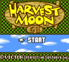Harvest Moon Game Boy Color Title Screen