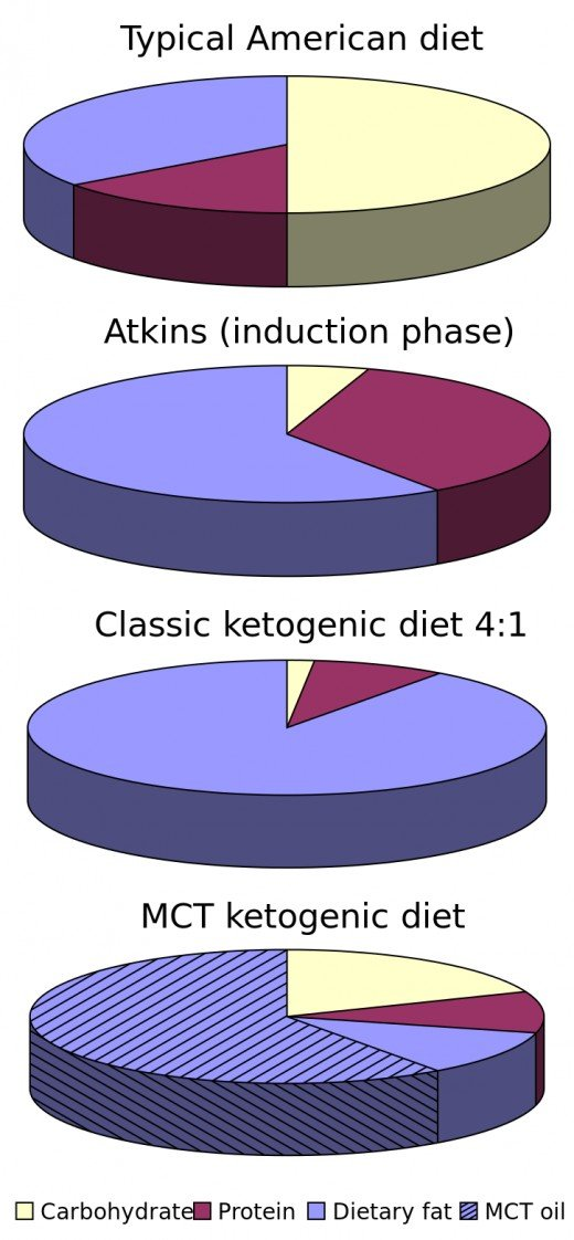 "Check out this ketogenic diet pie chart for those of you who want to ""see"" what your diet will look like."