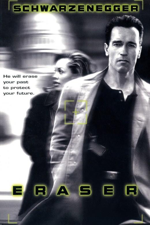 """Promotional poster for """"Eraser"""""""
