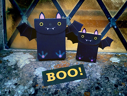 Get the free. printable template so you can make these cute bat treat bags for Halloween.