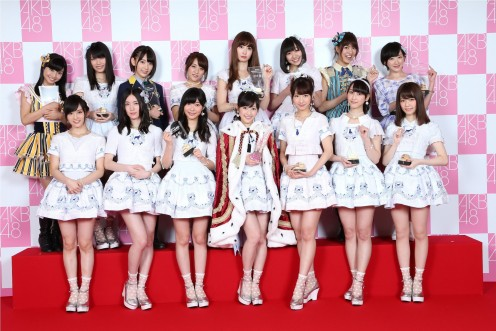 Here are some of the AKB48 members. The first row includes Sayaka Yamamoto of NMB48 (first one on the left) who is one of my favorite singers of all time.