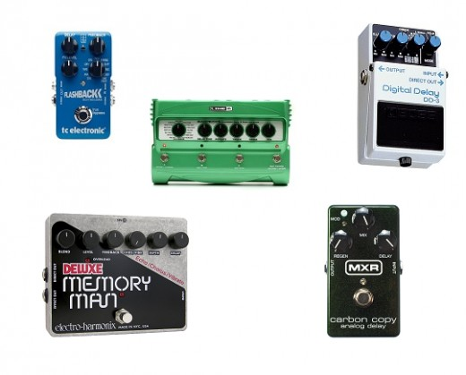 Top 5 most popular delay effects pedals