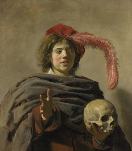 Young Man with a Skull, c.1626 Oil on canvas