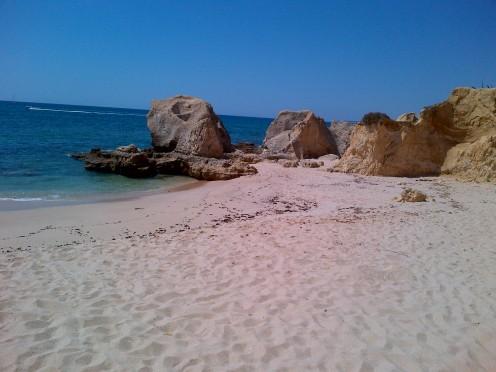Portuguese beach on the Algarve