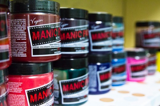 Manic Panic and other dyes come in a large variety of colors