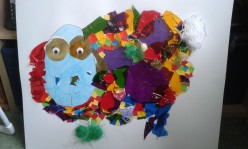 Art: a 4 year-old's collage