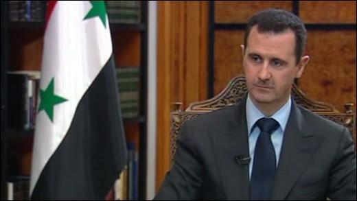 Syrian President:  Bashar Assad.