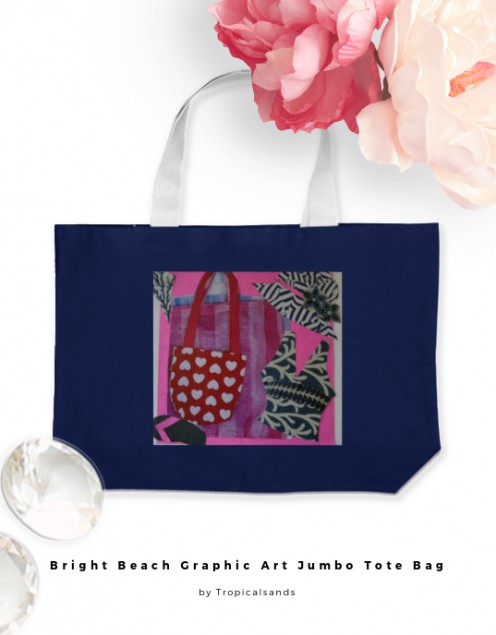 Cool whimsical and fun bag for a day shopping or a tour round the islands.