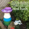 How to make a simple terra cotta bird bath