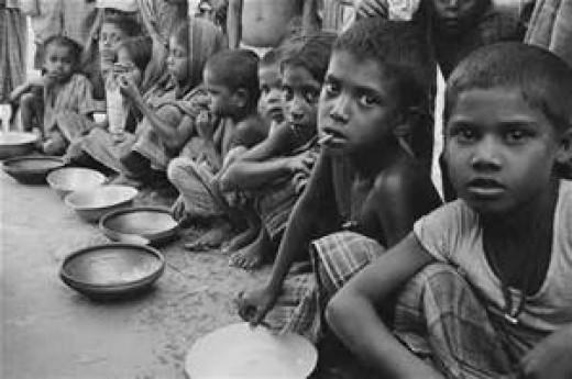 Poor children on the streets